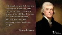 Thomas Jefferson's Frustration