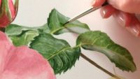 Painting the Leaves & Stem
